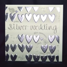 Wedding anniversary card 25 - happy silver wedding